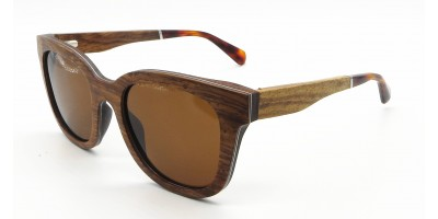 Ready Made Pear Wood Sunglasses With Laminated Aluminum IBWA-XB-015