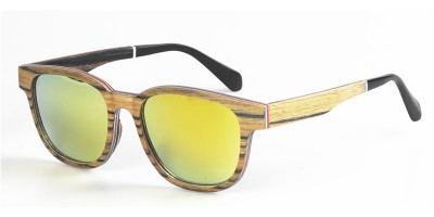 Zebra Wood Laminated With Aluminum Sunglasses  IBW-FJ002B