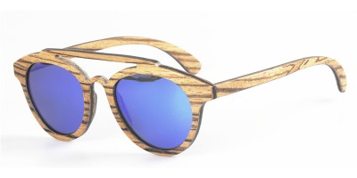 Thin Layers Zebra Wood Made Sunglasses  IBW-FJ001