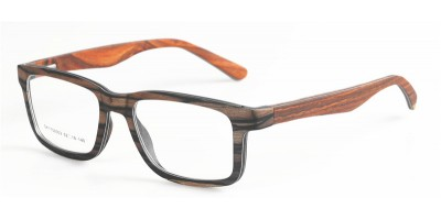 Layers Ebony Laminated  With Double Aluminum Optical Glasses IBW-YT001