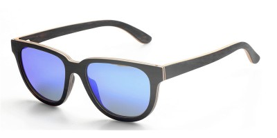 Customized Design Nature Thin Layers Ebony Wood Sunglasses IBW-GS006B