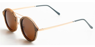 2018 Design Nature Zebra Wood Frame Gold Metal Legs Sunglasses IBW-GS003A