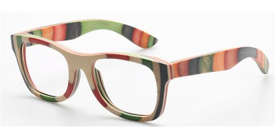 Multi Skateboard Wood Polarised Sunglasses IBW-GS039