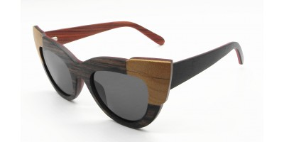 Ready Stocks Layers Cat Eye Design Wooden Sunglasses IBW-XB-008A