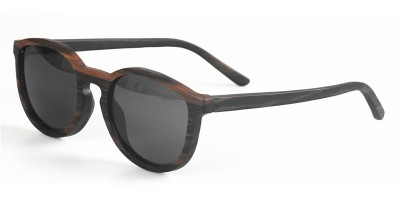 Nature  Stripy Ebony Wood Sunglasses IBW-YT003