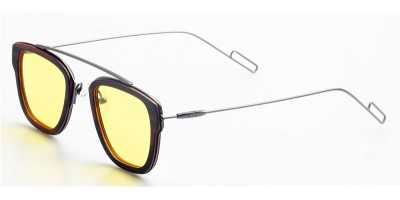 Thin Ebony Wood Sunglasses Metal Temple IBW-GS015A