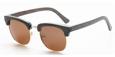 Clubmaster Style Nature Bamboo Polarized Sunglasses IBW-GS027