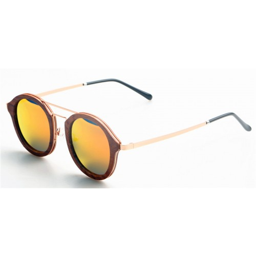 2019 Design Nature Real Sandal Wood Frame Gold Metal Legs Sunglasses IBW-GS003B