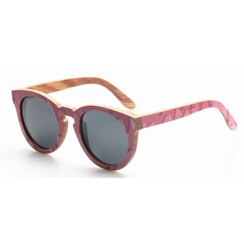 Nature Bamboo Sunglasses With Carbon Fiber IBW-GS029