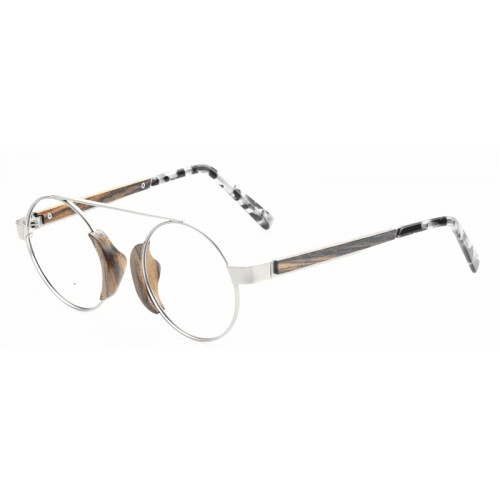 Cute Lady Sunglasses Metal Wooden Made IBW-GS035A