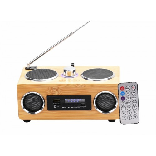 Eco-friendly Bamboo Made Loud Speaker IBW-BT005