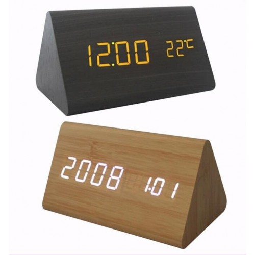 Eco-friendly Bamboo Wooden Made Quitely Fashin Clock IBW-BT007