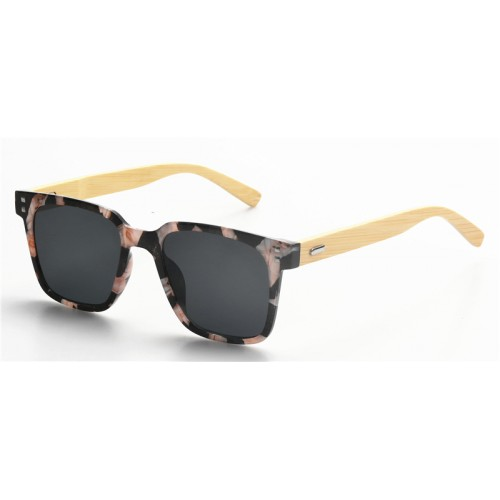 Ultra Thin Newest Design Multi Plastic Frame Nature Bamboo Temples Sunglasses IBW-CN001D