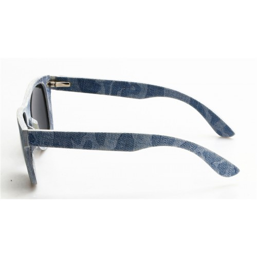 Classic Wayfar-er Style Laminated Denim Clothing Polarized Sunglasses IBD-003A